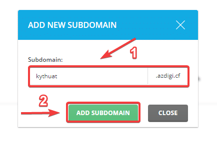 Hướng dẫn cách tạo Subdomain trong Cpanel chi tiết - 2021