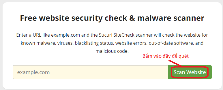 công cụ quét mã độc website, quét virus, malware tốt nhất