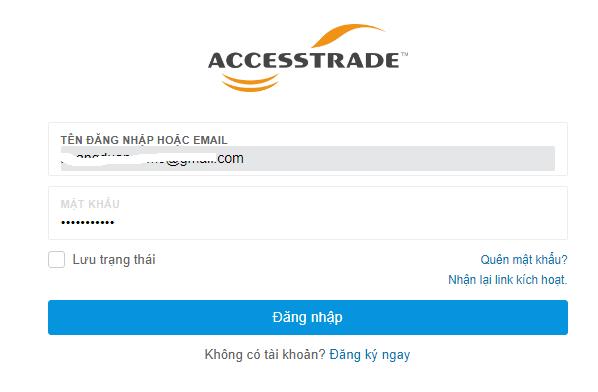 đăng ký accesstrade và kiếm tiền accesstrade
