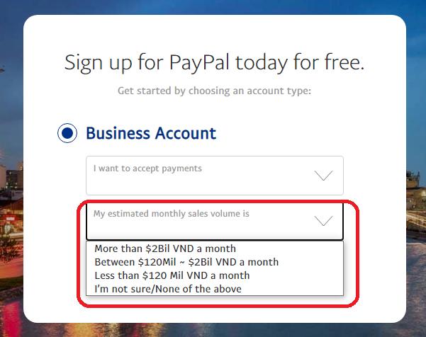 Hướng dẫn cách tạo tài khoản paypal  mới nhất