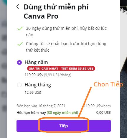 Hướng dẫn dùng Canva Pro miễn phí trong vòng 30 ngày
