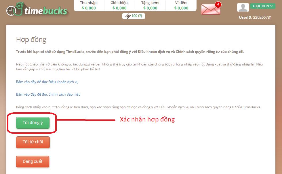 Hướng dẫn đăng ký Timebucks